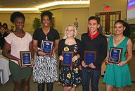2017 Winners Judy Cadet, Shelly Ann Soleyn, Cheyenne Perry, Michael Melara and Courtney Wills
