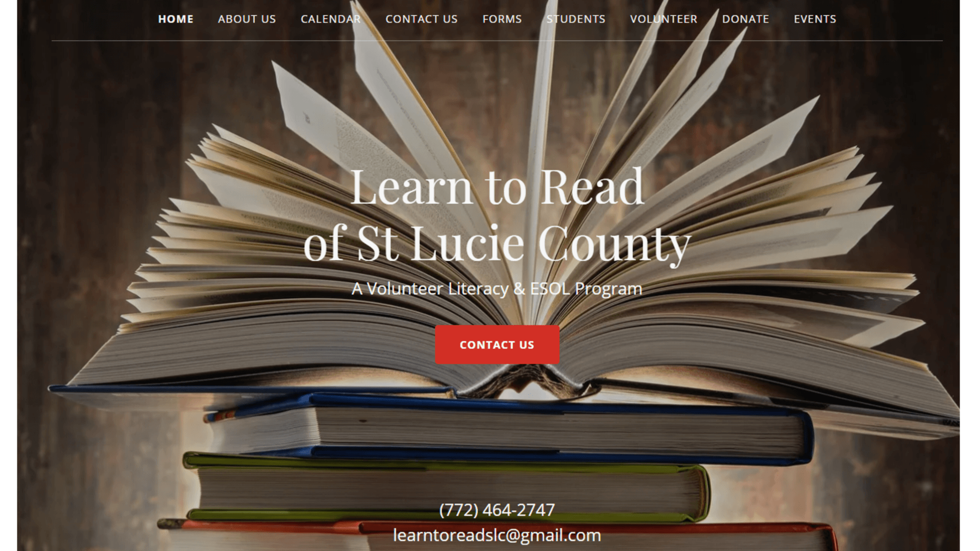 Learn to Read of St Lucie County website page